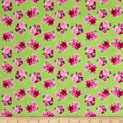 Berkshire Garden Floral Green Fabric