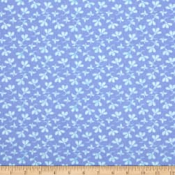 Berkshire Garden Floral Periwinkle Fabric