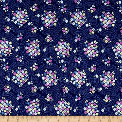 Riley Blake Blue Carolina Cluster Navy Fabric