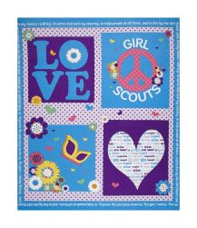 "Riley Blake Girl Scouts Promise 35.5"" Panel Blue"