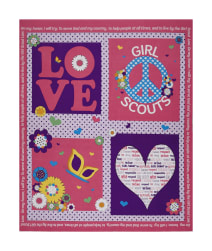 "Riley Blake Girl Scouts Promise 35.5"" Panel Pink"