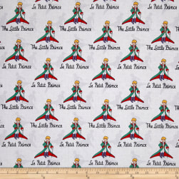 Riley Blake The Little Prince Title White Fabric