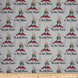 Riley Blake The Little Prince Title Gray Fabric