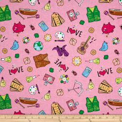 Riley Blake Girl Scouts Main Pink Fabric