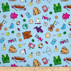 Riley Blake Girl Scouts Main Blue Fabric