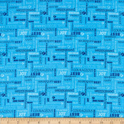 Riley Blake Girl Scouts Text Blue Fabric