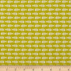 Meow Green Fabric