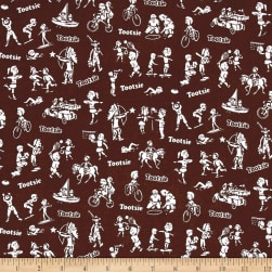 Riley Blake It's Tootsie Roll Time Brown Fabric