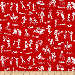Riley Blake It's Tootsie Roll Time Red Fabric