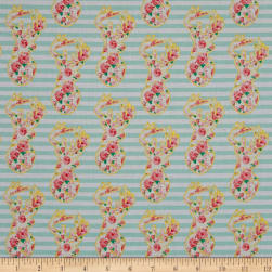 Riley Blake Just Sayin' Deer Mint Fabric
