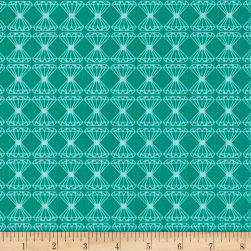 Riley Blake Just Sayin' Diamond Teal Fabric
