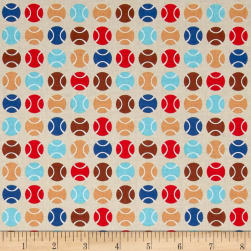 Riley Blake Puppy Love Dots Tan Fabric