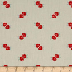 Flower Stamp Charm Beige Fabric