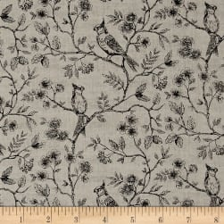Botanica Birds On Vine Antique Fabric
