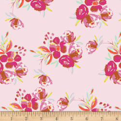 Art Gallery Wild Bloom Corsage Charm Pink Fabric