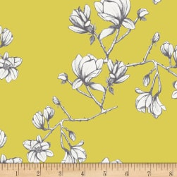 Art Gallery Wild Bloom Magnolia Study Zest Yellow