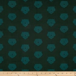 Art Gallery Esoterra Triceratops Petrolium Hunter Green Fabric