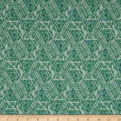 Art Gallery Floralia Fusion Tracery Green Fabric