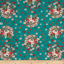 Soulmate Blooms Lust Teal Fabric