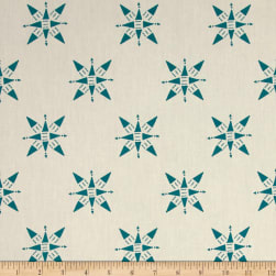 Compassion Teal Off White Fabric