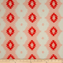 Daring Tribal Sunset Peach Fabric