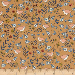 Lovebirds Amber Tan Fabric