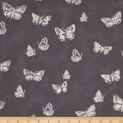 Flutterdust Starry Purple Fabric