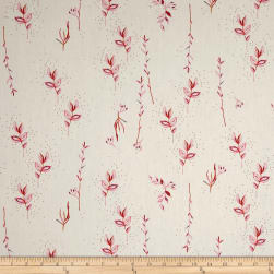 Meadow Posy White Fabric