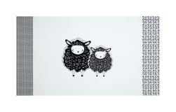 Art Gallery Nest One Two Sheep White 36'' Panel Fabric