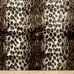 Michael Miller Wild Leopard Faux Fur Brown