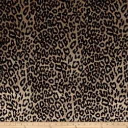 Michael Miller African Leopard Faux Fur Brown Fabric