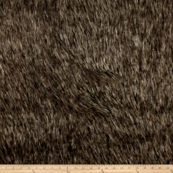 Michael Miller Desert Fox Faux Fur Grey Fabric