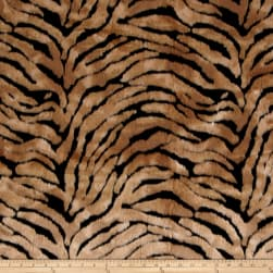 Michael Miller Zebra Faux Fur Brown Fabric