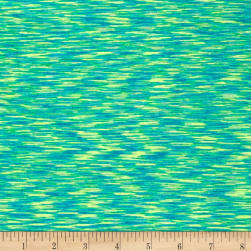Pine Crest Fabrics Strata Athletic Knit Turquoise/Lime Fabric