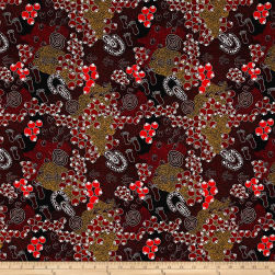 Australia Bush Plum Dreaming Brown Fabric