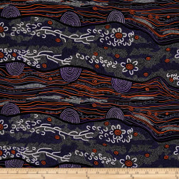 M&S Textiles Australia Sandy Creek Purple Fabric