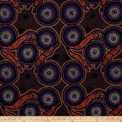 Australia Bush Winter Spirits Purple Fabric