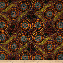 Australia Bush Winter Spirits Yellow Fabric