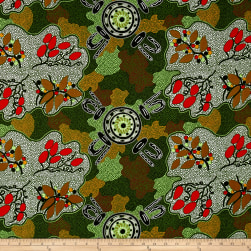 M&S Textiles Australia Women Gathering Bush Tucker Green