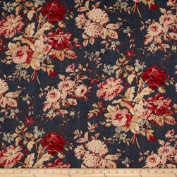 Ralph Lauren Home LCF24311F Newbury Floral Blue Fabric