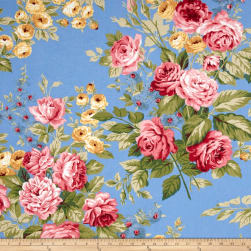 Ralph Lauren Home Garden Harbor Floral Sky Fabric