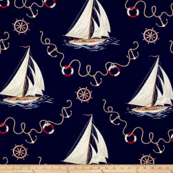 Ralph Lauren Home Inlet View Twill Navy Fabric