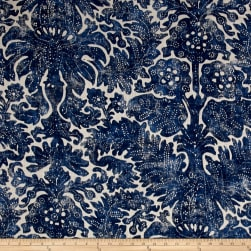 Ralph Lauren Home Antibes Linen Batik Denim Fabric