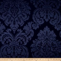Ralph Lauren Home Albertine Damask Silk Sateen Prussian Blue