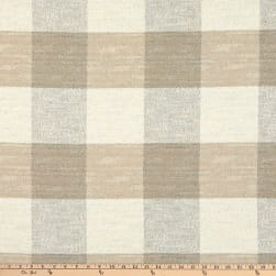 Artistry Buffalo Check Basketweave Flax Fabric