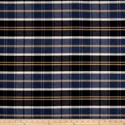 Off to the Races Yarn Dyed Foxtrot Plaid Twill Indigo