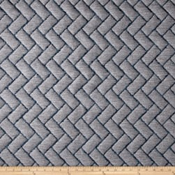Brick Quilted Basketweave Gray Fabric
