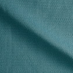 Suntastic Outdoor Basketweave O'Top Linen Aqua Fabric