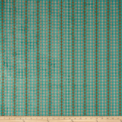 Plush Darling Imperial Chenille Jacquard Turquoise Fabric