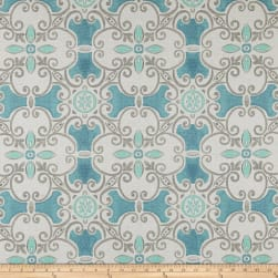 Premier Prints Promenade Flax Basketweave Fountain Fabric